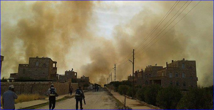 Several Large Fires Broke Out in Assyrian Areas in Southeast Turkey