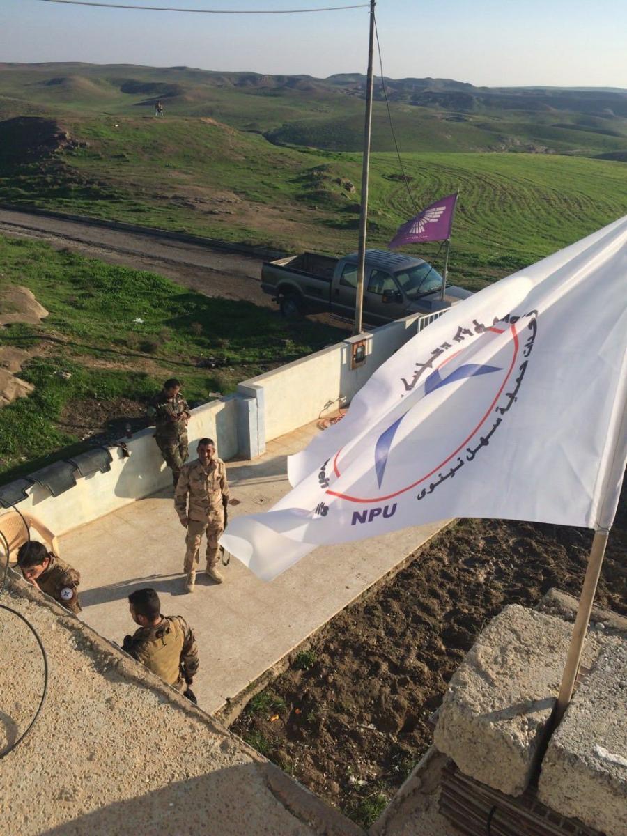 Flag and men_December 2014
